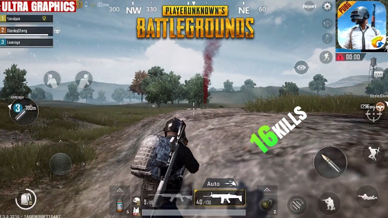 Get Ultra Hdr Graphics In Pubg Mobile: PUBG Mobile Gameplay 16 Kills