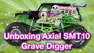 Unboxing del Axial SMT10 Grave Digger - Mini-Z Channel - 683