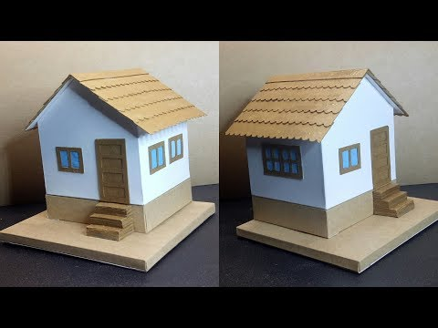 HOW TO MAKE A SIMPLE PAPER HOUSE DIY SCHOOL PROJECT