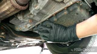 CVT transmission oil change, 2014 Nissan Altima.