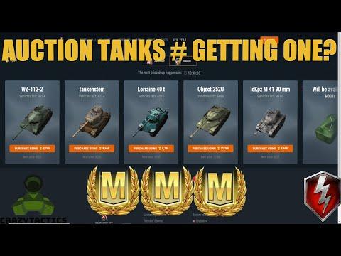 WoT Blitz Auction tanks 252u, LekPz M41 90, Lorraine, WZ112-2, Tankenstein