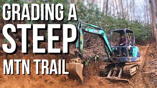 Grading a Steep Mountain ATV Road | Fixing Switchbacks