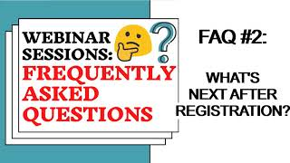 Webinars Frequently Asked Questions | Tita Mars