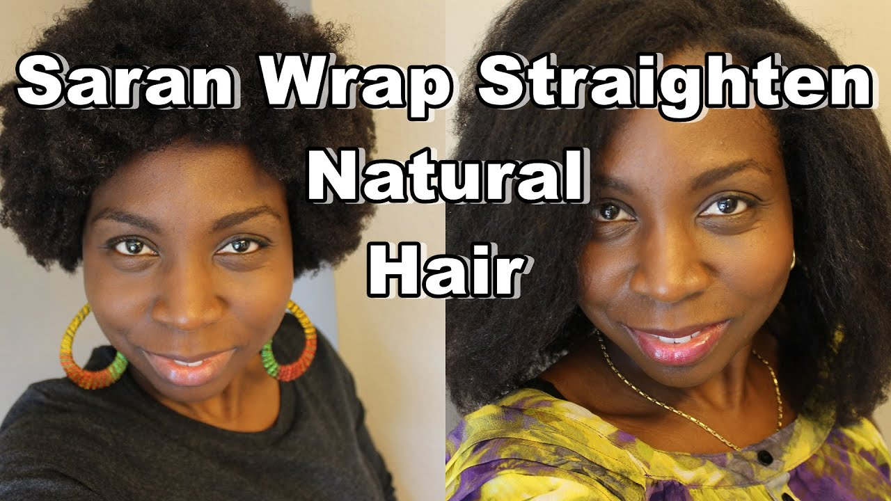 DiscoveringNatural How To Saran Wrap Roller Set To Straighten