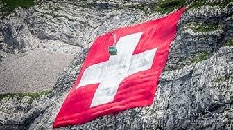 Säntis Fahne 2017: Montage der grössten Schweizerfahne der Welt