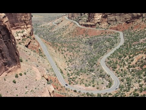 USA 23 Meilen mit der Harley-Davidson durch das Colorado National Monument GoPro Hero