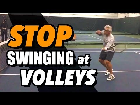 HOW TO STOP SWINGING AT YOUR VOLLEYS - Lesson + Drills