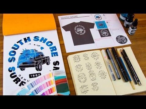 T-Shirt Design Workshop, Part 2: Creating a Mixed Media Design