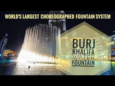 BURJ KHALIFA water fountain nd Dubai aquarium