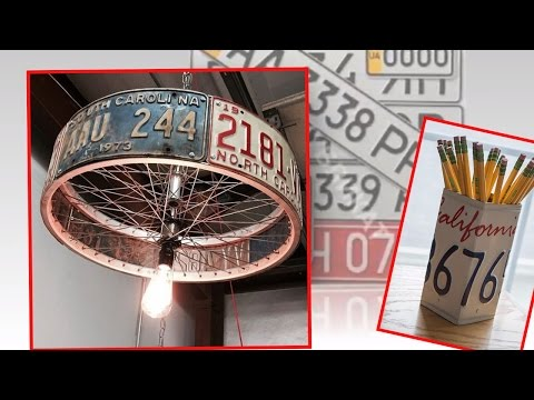 What  can do with  license plates! Crafts Ideas.  Upcycled License Plates