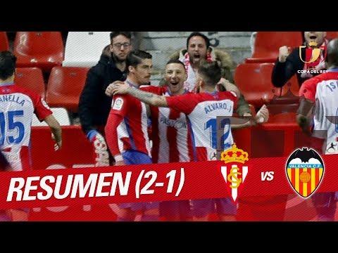 Resumen de Real Sporting vs Valencia CF (2-1)