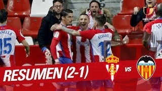 Resumen de Real Sporting vs Valencia CF (2-1)