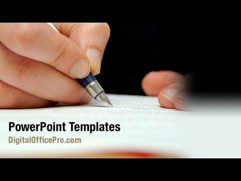 Writing Hand Powerpoint Template Backgrounds Digitalofficepro