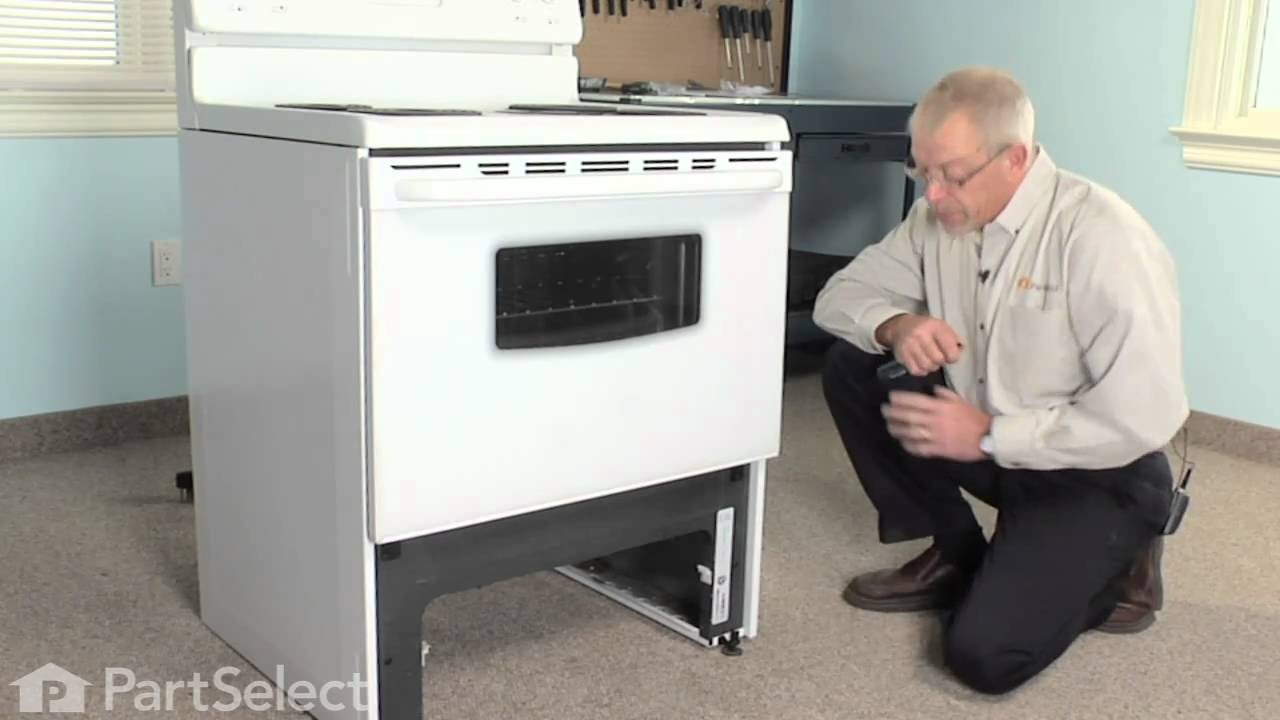 Range Stove Oven Repair Replacing The Front Drawer Glide