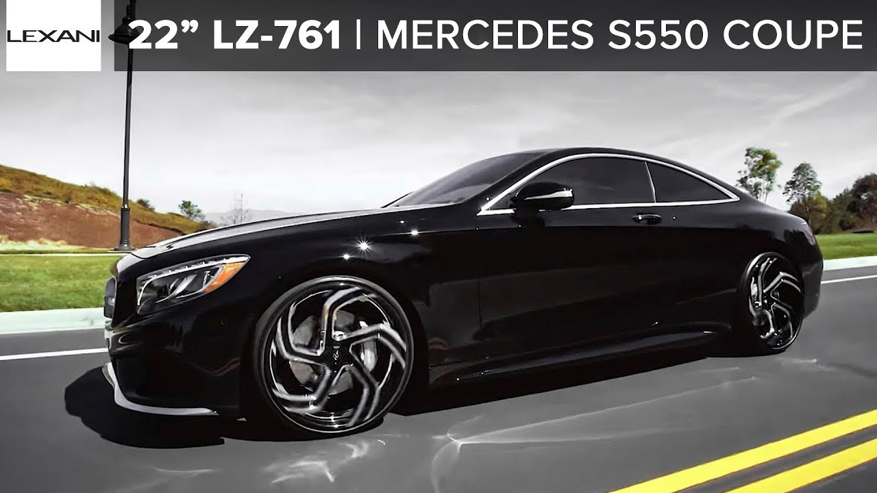 Mercedes benz s coupe on 22 black and chrome lexani for Mercedes benz chrome rims