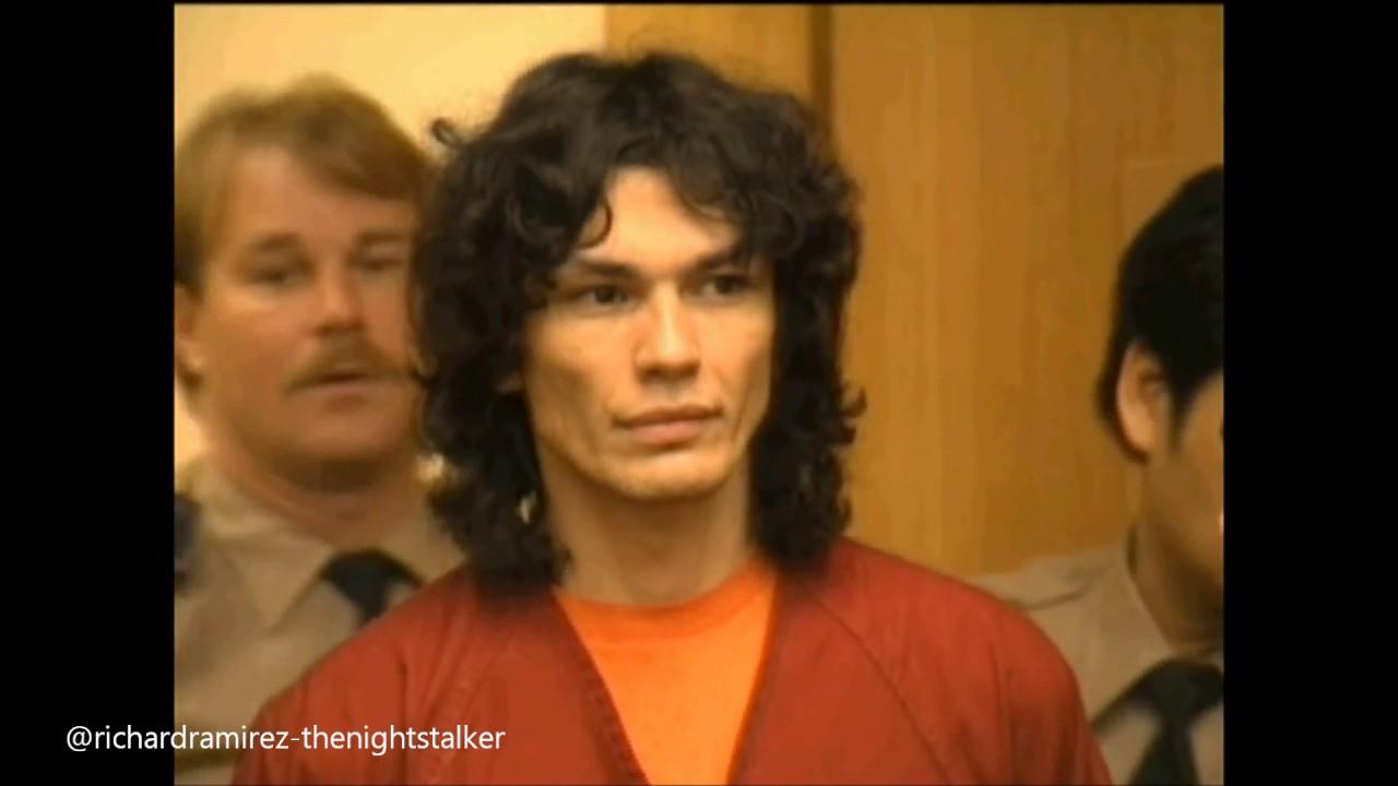 "Richard Ramirez ""The Night Stalker"" in court. - YouTube"
