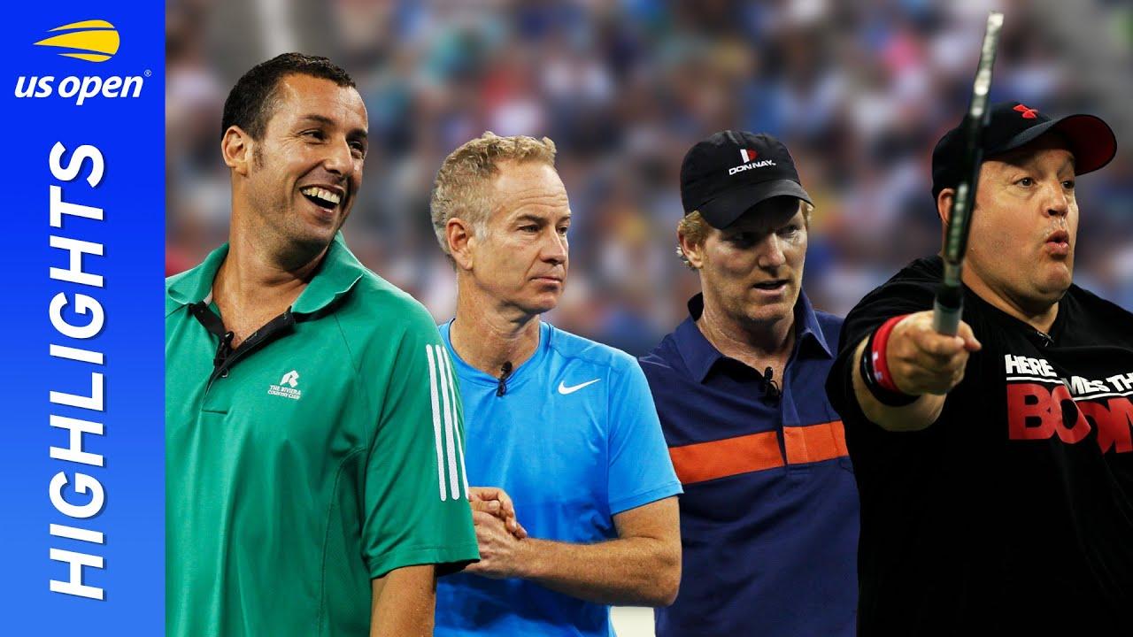"""Adam Sandler / John McEnroe vs Kevin James / Jim Courier """"Full Match""""   US Open 2012"""