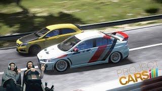 Фан гонки с друзьями и подписчиками - Project CARS на руле Fanatec CSL Elite