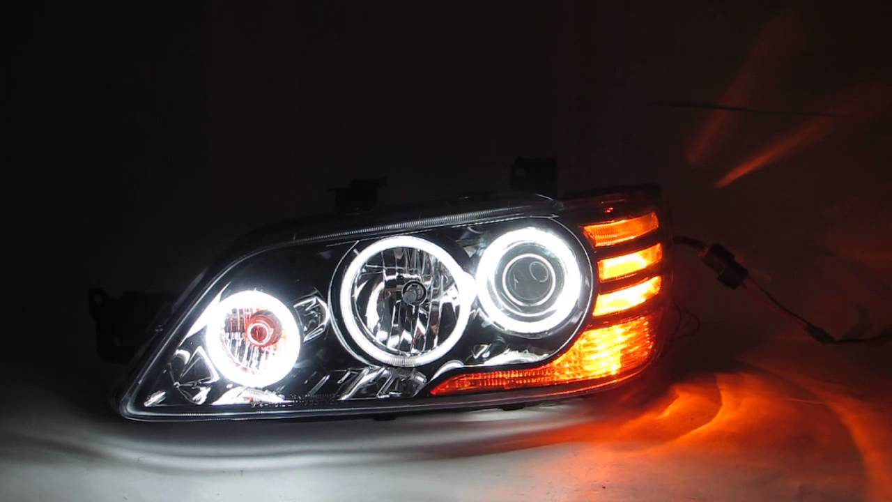 Mitsubishi Evo 9 >> CrazyTheGod LANCER CG/CEDIA 2001-2003 CCFL Projector Headlight BLACK EVOLook for Mitsubishi ...