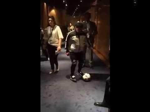Stéfano di Gregorio tiene cosas de Maradona: repitió el video del caño de Diego