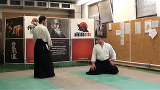 hanmi handachi shomen uchi iriminage [AIKIDO]  basic technique