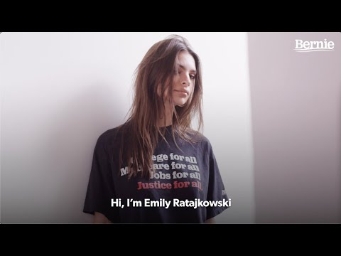 Emily Ratajkowski Endorses Bernie Sanders for the 2020 Presidential Race