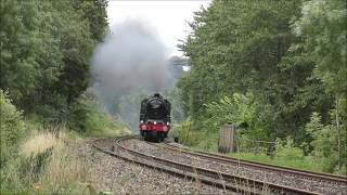 Triple Steam Action - 45596, 70000 and 6233 over the Welsh Marches and Devon Banks - 20th-21st July