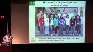 2. Seminar by Roland Buresh: The Rice Crop Manager: an ICT-based, agro-advisory service, Pt. 2