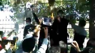 Iran Live News | Burning picture of Ahmadi Nejad | Shiraz Iran