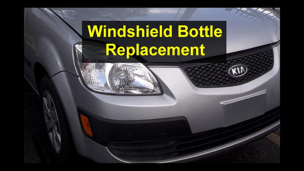 Washer Fluid Bottle Leaking Cracked Broken Replacement Kia Rio Votd Youtube