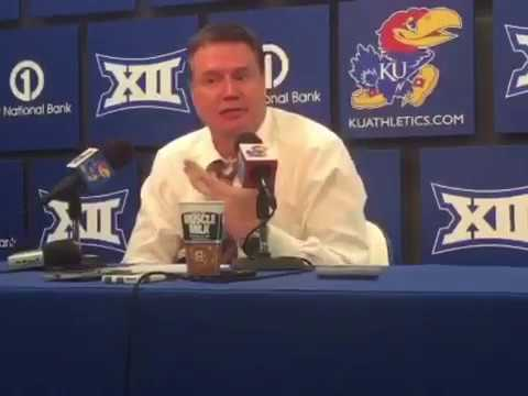 Coach Self post game after Kansas defeated Texas