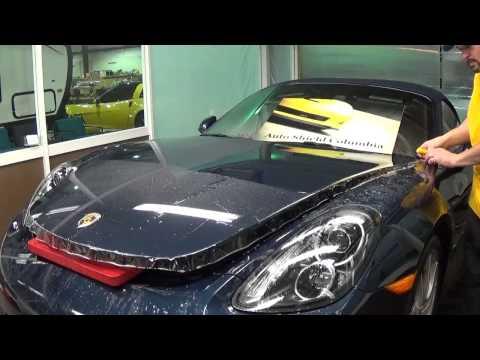 Auto Shield Columbia Full Hood install on a 2012 Porsche Boxster S