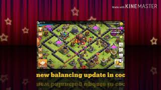 New balancing update in coc