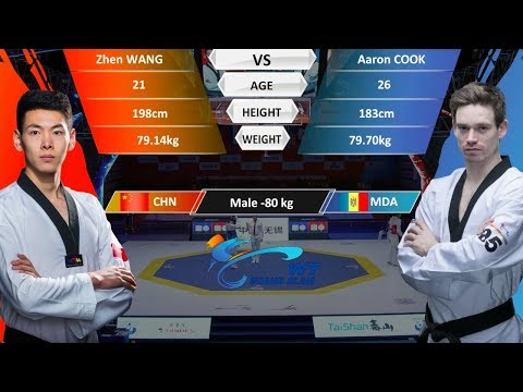 M-80kg | Aaron COOK(MDA )VS Zhen WANG(CHN) | 2017-2018 Season WT Grand Slam Finals