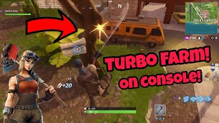 How to Turbo Farm on Consoles (working) FORTNITE GLITCHES SEASON 5 PS4/XBOX ONE 2018