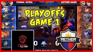 Ang Hari ng Comebacks! Cignal Ultra vs Aether Main | MPL PH Season 2 Playoffs