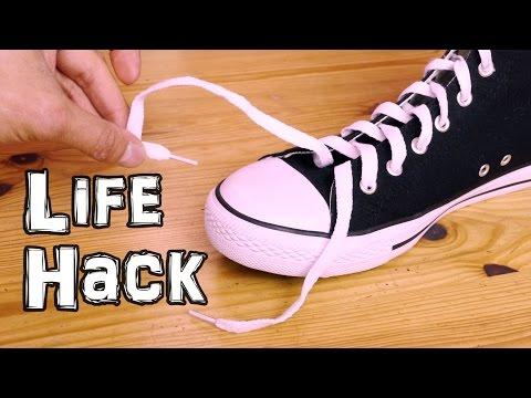 Shoe Lace Life Hack - Ukrainian Knot