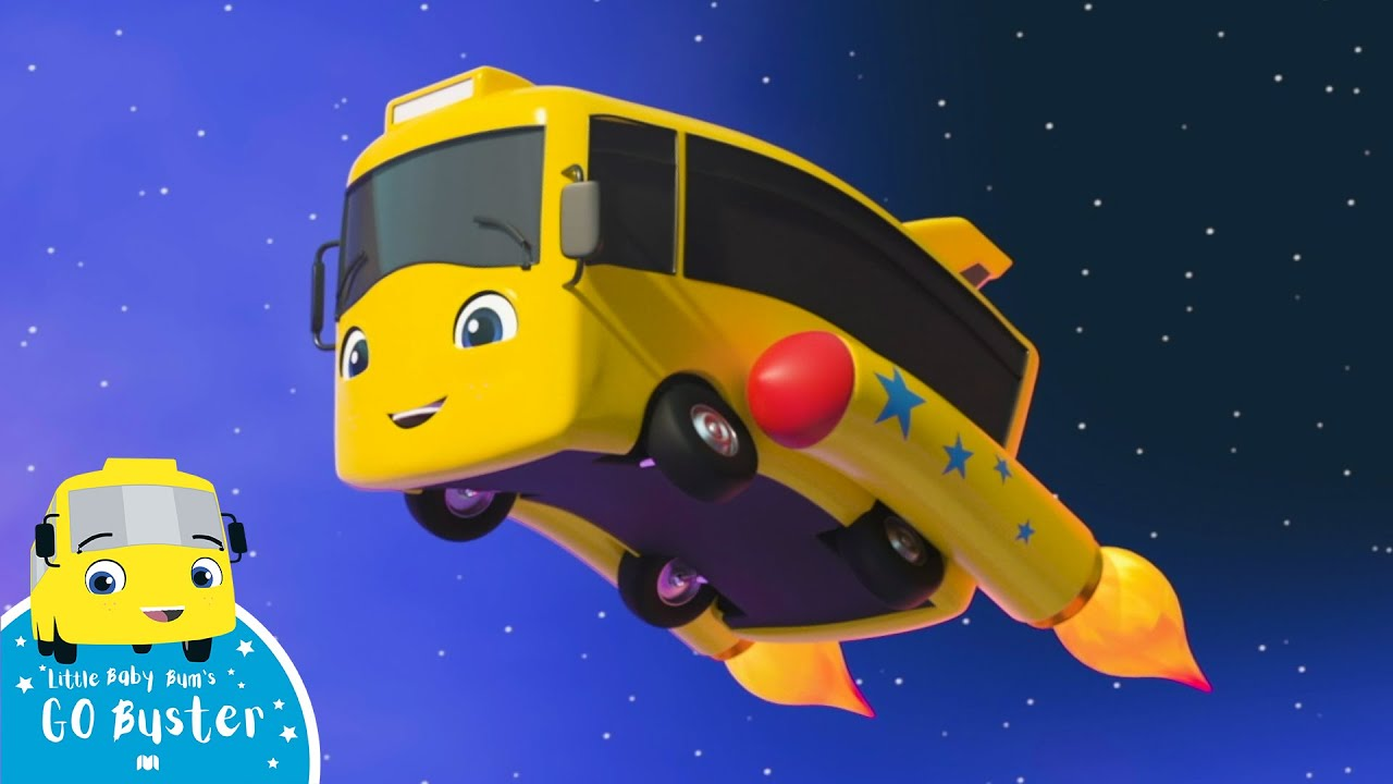 Buster the Rocket Bus Goes Space Exploring | Kids Songs & Nursery Rhymes | ABC & 123 | Go Buster