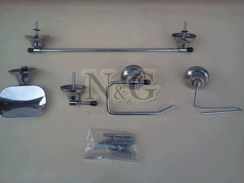 Kit Set De Accesorios Para Bao 5 Piezas Cromado NG