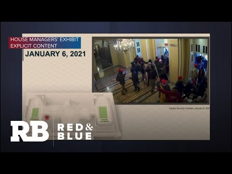 House impeachment managers show security video from inside the Capitol