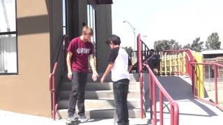 13 YEAR OLD FRONT 180s HIS FIRST 5 STAIR!