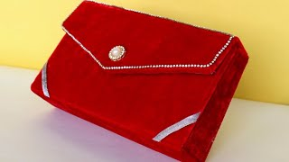 Best out of Waste Idea || How to make Purse Making at Home | DIY Purse  For School Competition 2018