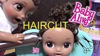 BABY ALIVE gets a HAIRCUT! The Lilly and Mommy Show. Baby Alive toy play