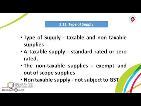 LU2: Taxable Supply and Taxable Person (Learning Video 1)