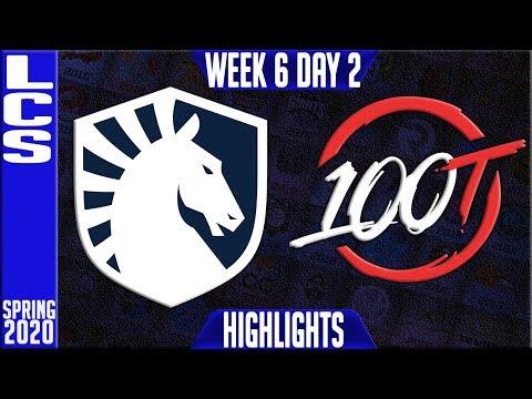 TL vs 100 Highlights   LCS Spring 2020 W6D1   Team Liquid vs 100 Thieves
