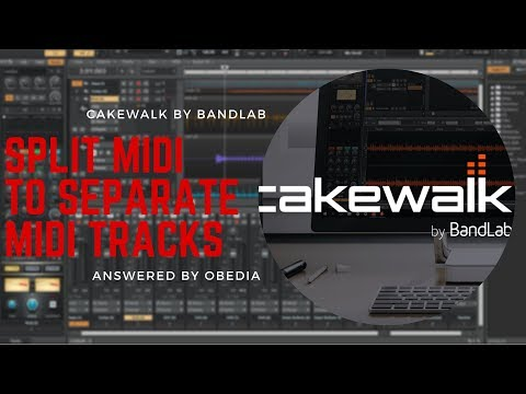 How to split MIDI region notes to new tracks in Cakewalk by