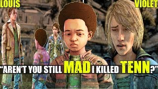 "AJ asks Violet & Louis ""Aren't you still MAD I killed Tenn?"" (All Dialogue) TWD TFS"
