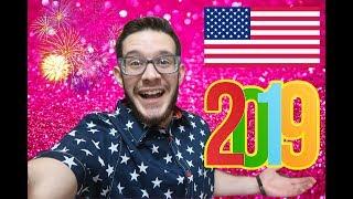 احتفالات امريكا لراس السنة 2019 🇺🇸 !!
