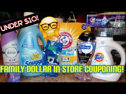 Family Dollar 12/2 In-store Couponing  How To Coupon When The Shelves Are Wiped Out!