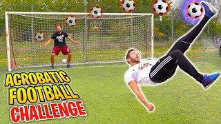 ACROBATIC FOOTBALL CHALLENGE! - w/IlluminatiCrew